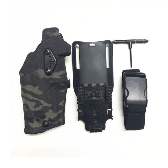 TMC Tactical Holster X300 Light-Compatible & QL Mount Holster Multicam for Glock17/18/19
