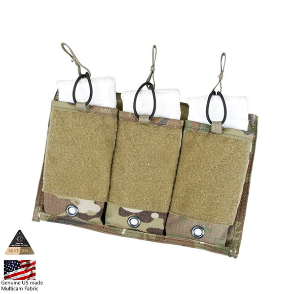TMC Tactical Triple 556 Magazine Pouch MOLLE Mag Holder Panel PT style MultiCam Airsoft
