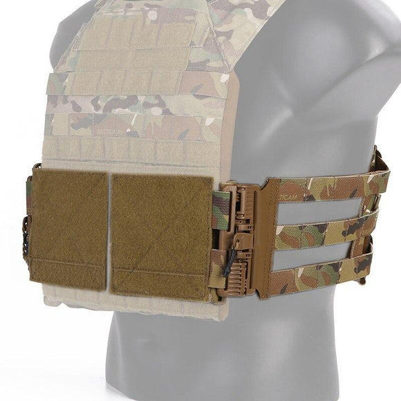 Tactical 3-Band Skeletal Cummerbund MOLLE Quick Removal System Fit for Tactical Vest JPC / 419 / 420