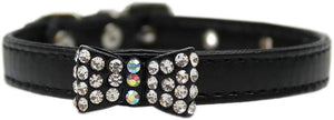 Bow-dacious Crystal Dog Collar for labradoodle, chow chow, french bulldog