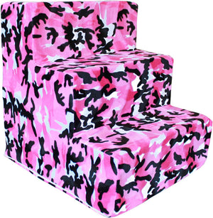 Pink Camo Pet Steps for Malta, Chow Chow, French Bulldog