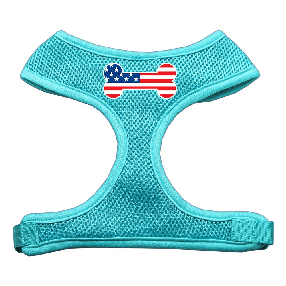 Bone Flag USA Screen Print Soft Mesh Harness for labradoodle
