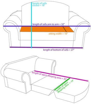 Pull Out Doggy Sleeper Sofa Beds
