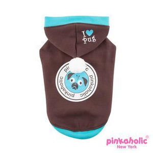 Chiquito Dog Hoodie by Pinkaholic - Brown for pugs