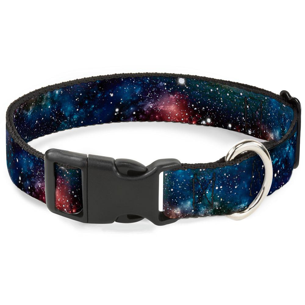 Buckle-Down Space Dust Collage Pet Collar - Medium