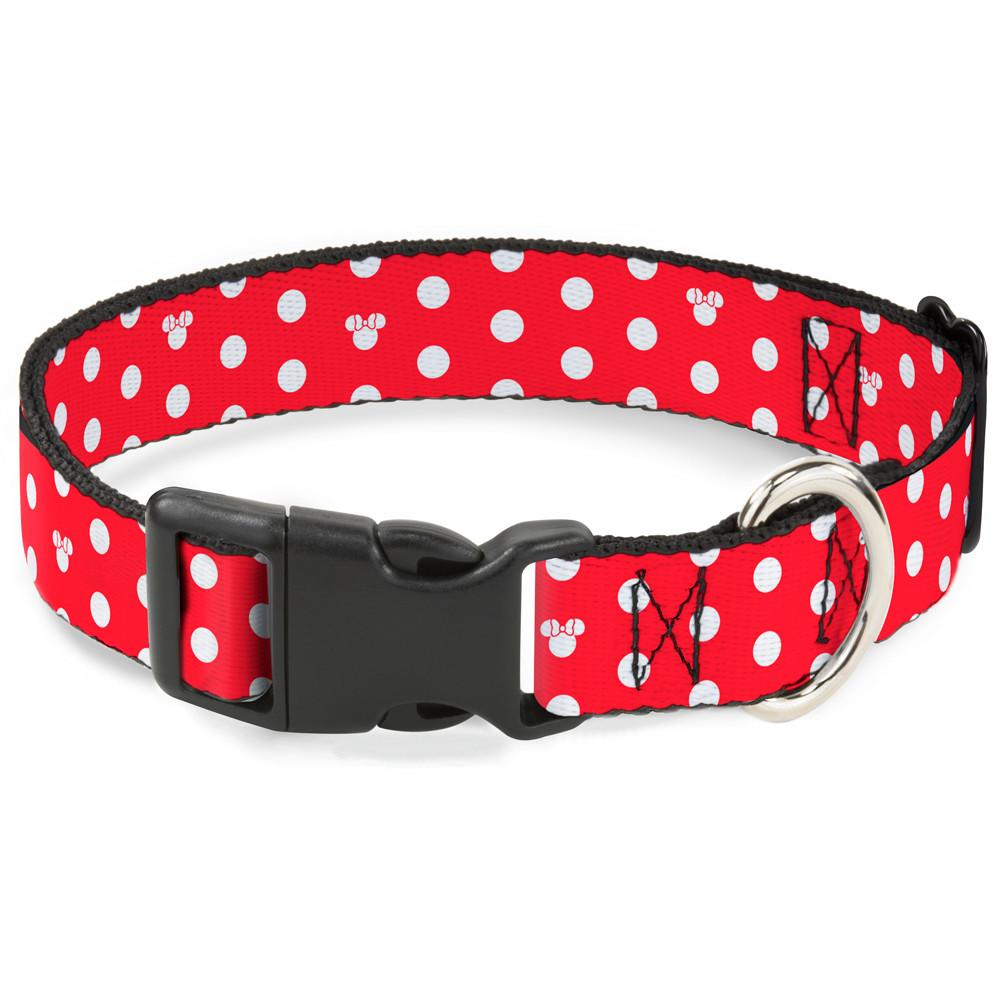 Buckle-Down Minnie Mouse Polka Dot Pet Collar - Small