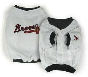 Atlanta Braves Dog Jersey Alternate Design - X Small
