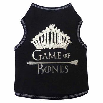 Game of Bones Dog Tank - Black for Labradoodle, maltipoo, chow chow