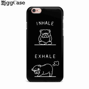 Cute French Bulldog Inhale Exhale Phone Cover For iPhone X 8 8Plus 7 7Plus 6 6s Plus 5S SE
