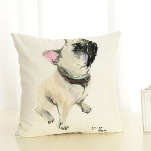 Pillow Cases Home Decor with French Bulldog Printing