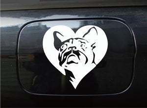 Creative French Bulldog Car Sticker Cartoon Animal Car Decal