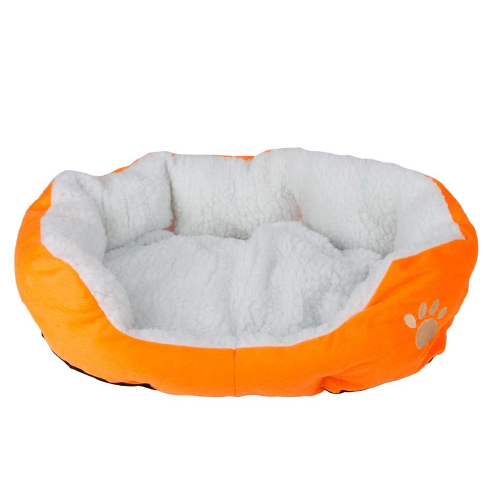 Cotton Pet Dog Bed Warm Waterloo with Pad Orange S Size - Cute Doggy Swag
