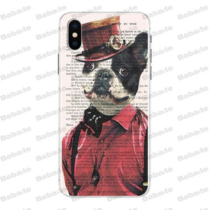 Cute French Bulldog Phone Cover for iPhone 8 7 6 6S Plus X Xs Xr XsMax 5 5s SE 5c Coque
