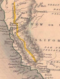 California Mexico Texas Map 1851