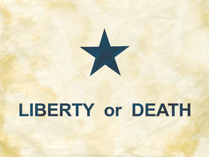Texas Goliad Flag Antique Style. Liberty or Death.