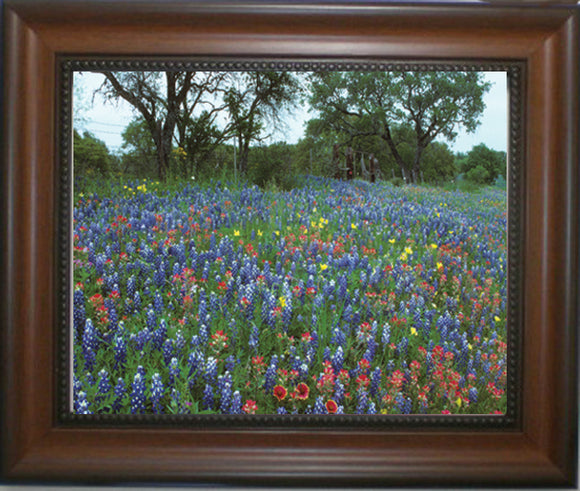Texas Wildflower Parade - Framed in Walnut