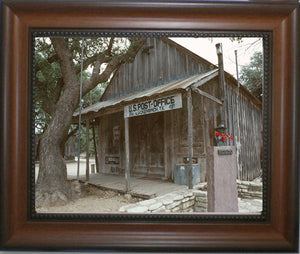 Everybody is Somebody in Luckenbach Texas - Framed in Walnut