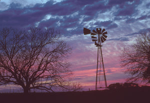 Texas Windmill Sunset