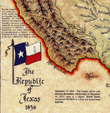 Texana Republic of Texas 1836 Map