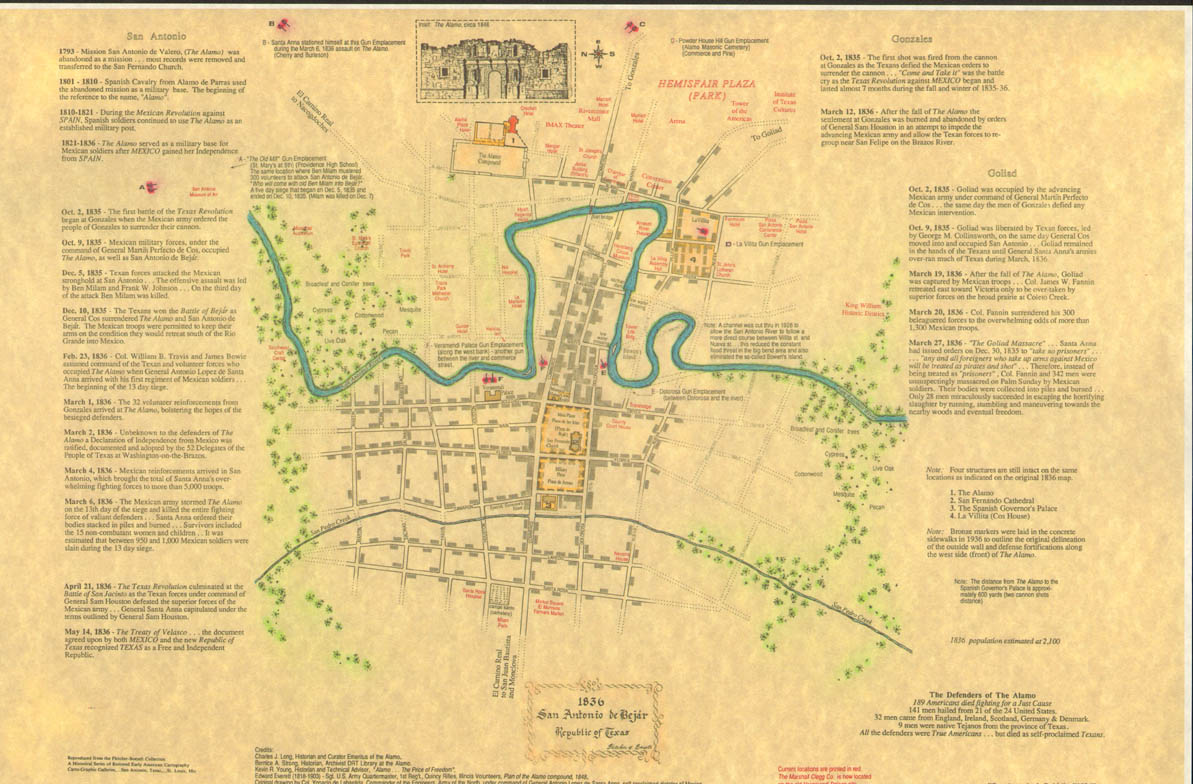 Map Of Texas 1836.San Antonio De Bexar 1836 Map
