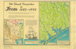 The French Connection in Texas 1685 - 1995 Map