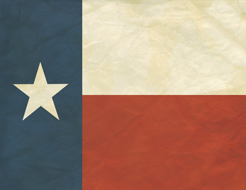 Old Texas Flag Antique Style
