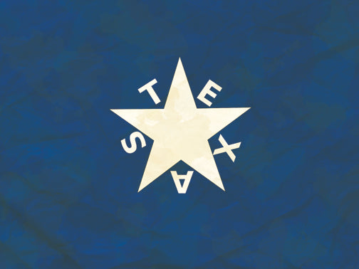 Texas Zavala Flag Antique Style