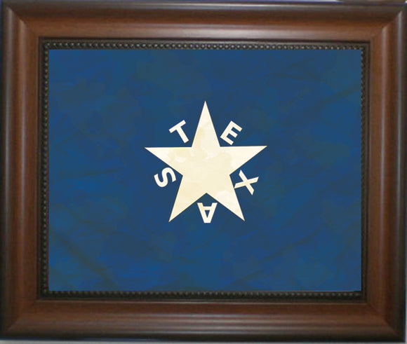 Zavala Flag Antique Style in Walnut Frame