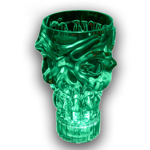 Dracula's Flashing Skull Glass