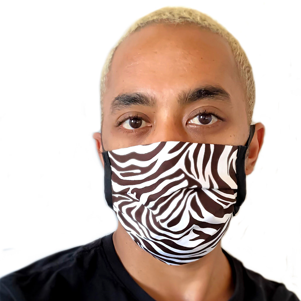 Zebra Print Washable Cloth Face Mask