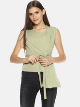 SAHORA Women Lime green solid Top