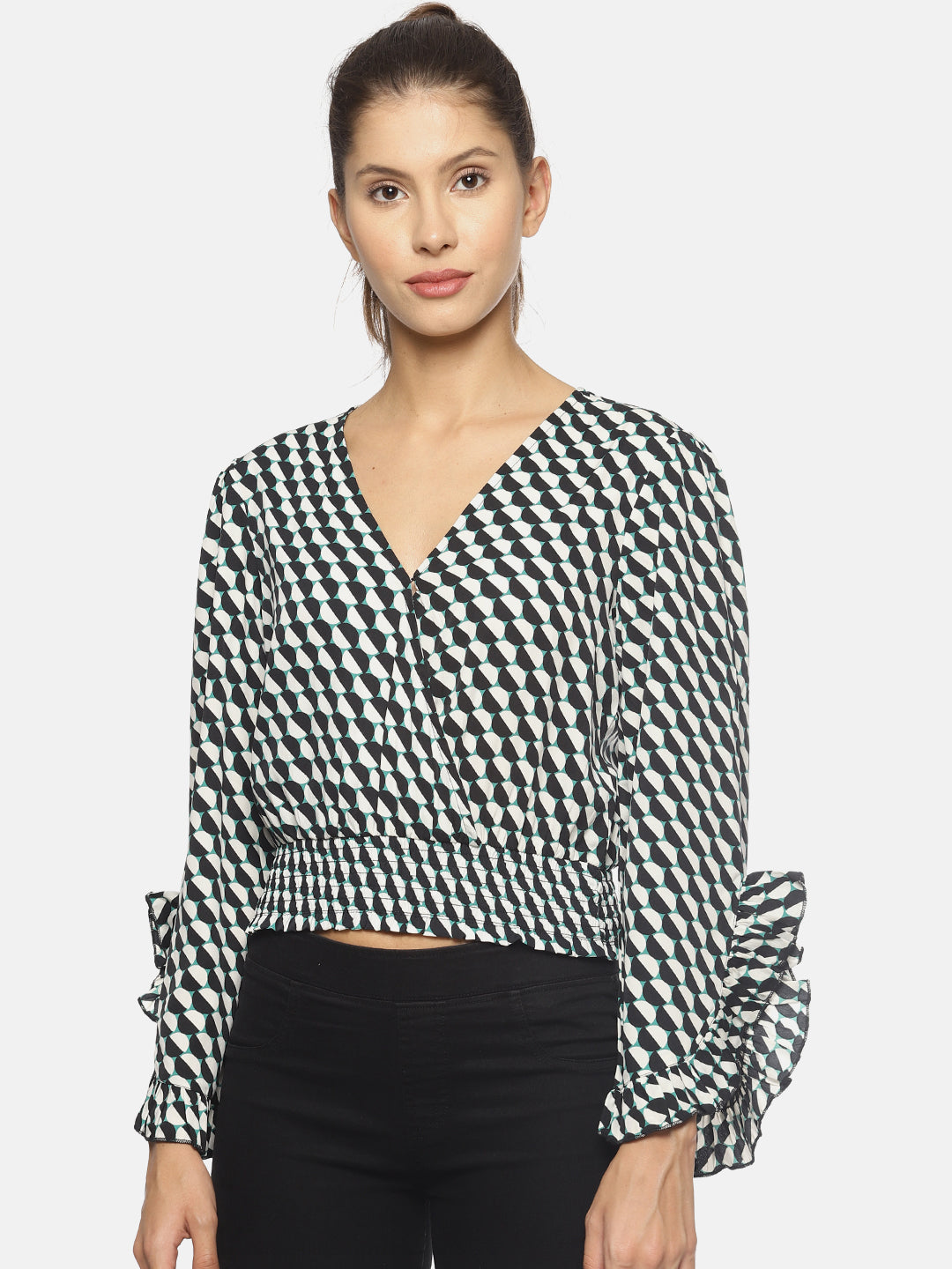 SAHORA Women printed crop Top