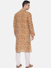 PAROKSH Men Pink Printed Straight Kurta