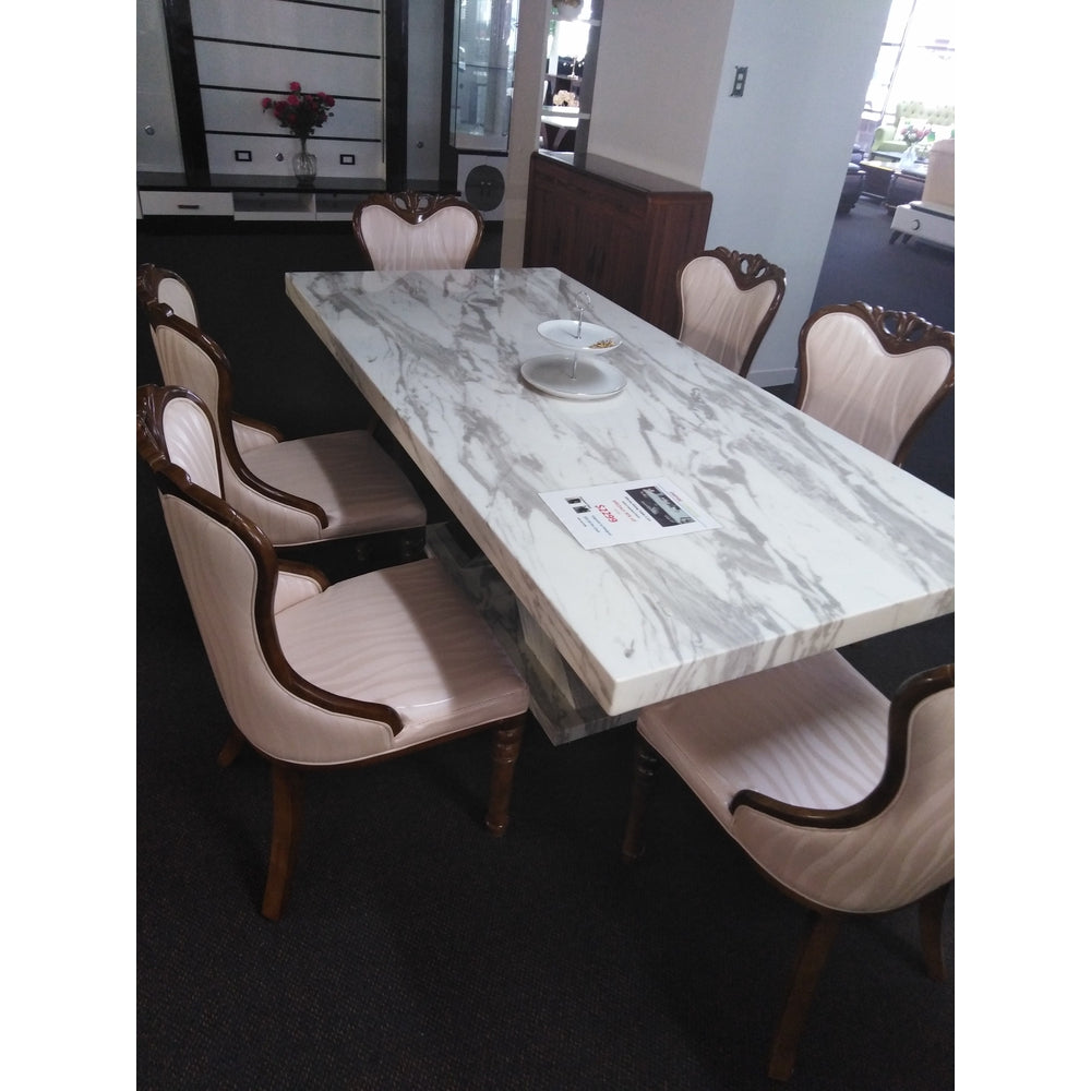 Strange Marble Stone Dining Table With 6 Chairs Forskolin Free Trial Chair Design Images Forskolin Free Trialorg