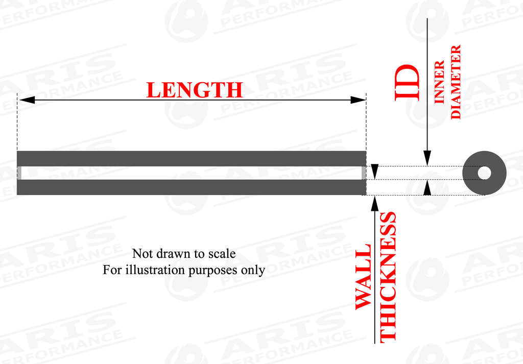 silicone flexible hose size chart