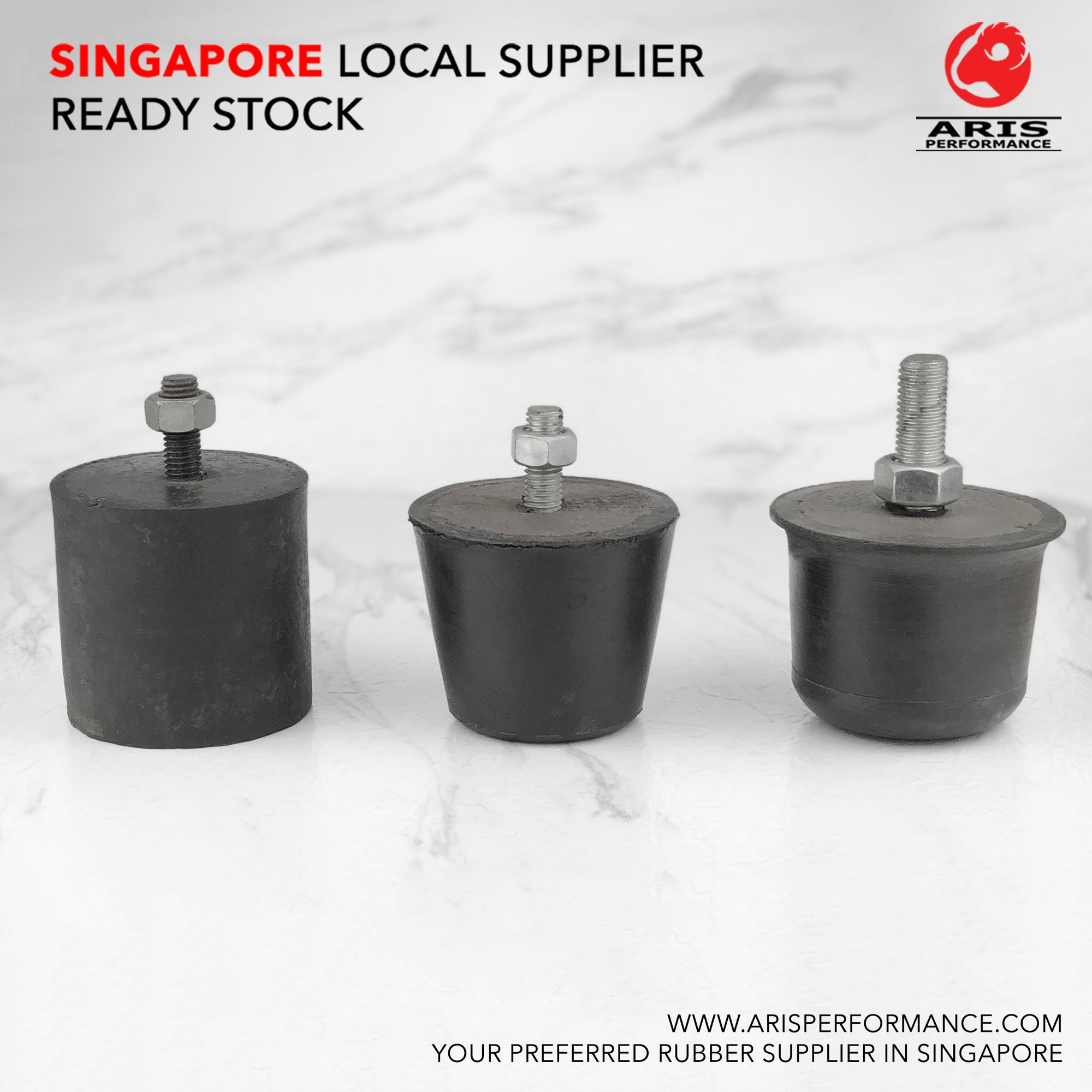 Vibration Isolation Stopper Mount - Male