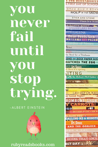 you never fail until you stop trying Einstein quote