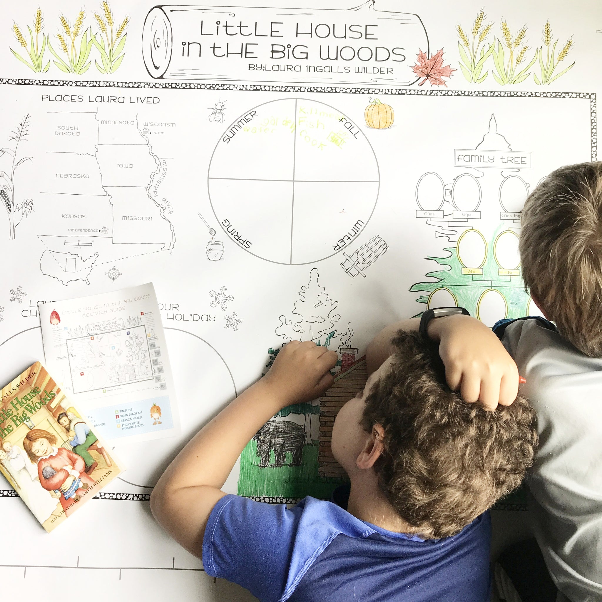 Little House in the Big Woods Read-Aloud Poster