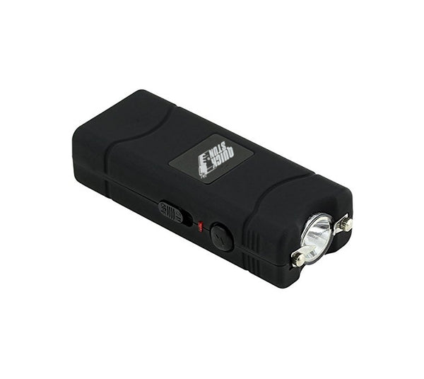 Black - Mega Quick Stun - 12 million volt - 4.5ma - mini stun gun - flashlight