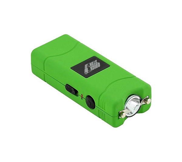 Green - Mega Quick Stun - 12 million volt - 4.5ma - mini stun gun - flashlight