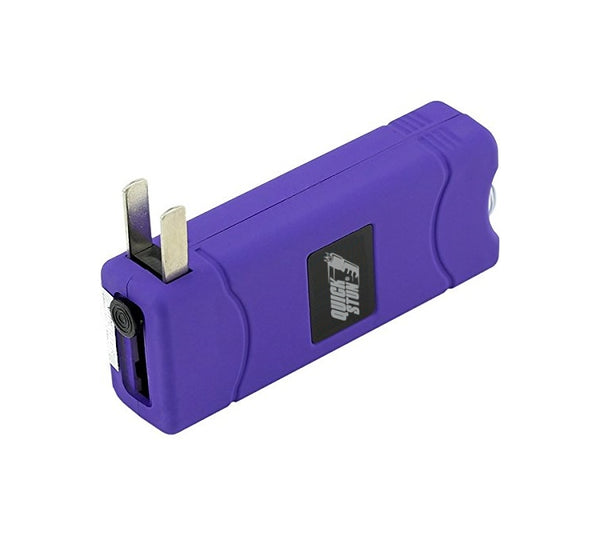Purple - Mega Quick Stun - 12 million volt - 4.5ma - mini stun gun - flashlight