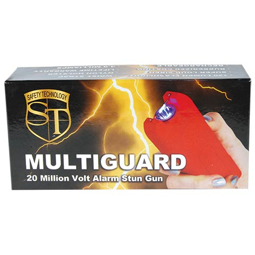 Red - Multi-Guard Stun - 20 million volt - 4.9ma - small stun gun - Alarm - Flashlight