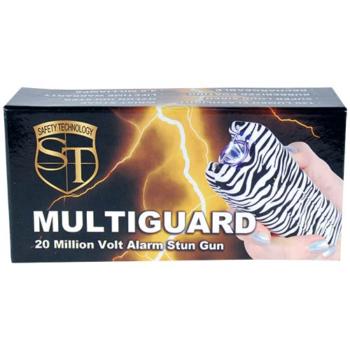 Zebra - Multi-Guard Stun - 20 million volt - 4.9ma - small stun gun - Alarm - Flashlight