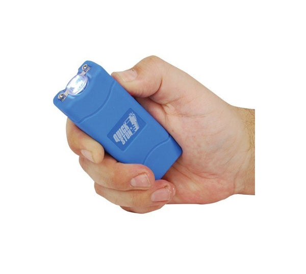 Blue - Mega Quick Stun - 12 million volt - 4.5ma - mini stun gun - flashlight