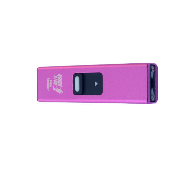 Pink - Micro Quick Stun - 10 million volt - 4.2ma - micro stun gun - flashlight