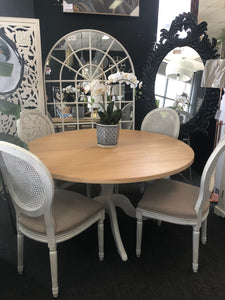 Elm Top Round Pedestal Table - 6 or 8 seater