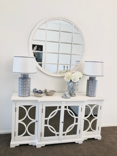 4 Door Mirrored Sideboard