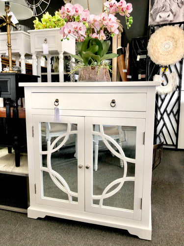 2 Door Mirrored Cabinet with Drawer