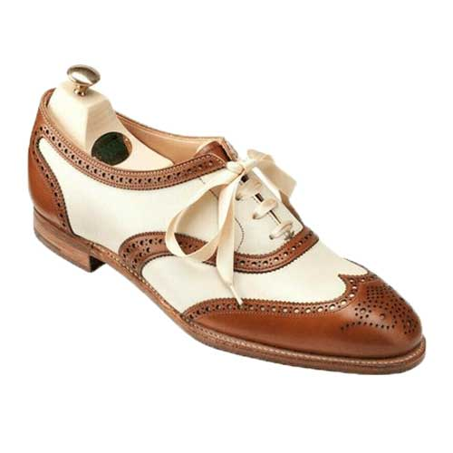 Two Tone Oxford Wingtip Leather Lace-Up