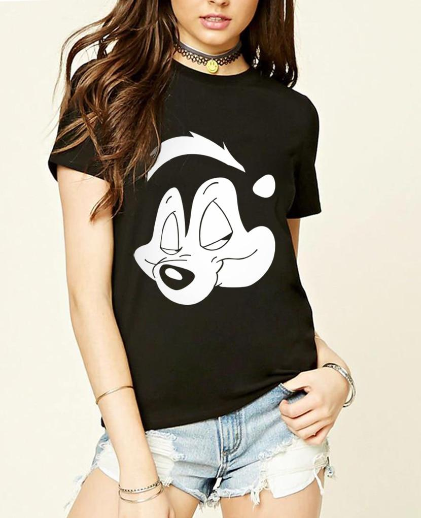Cotton Pepe Le Pew Slash Guns n roses women t shirt Punkeavengifts-eavengifts